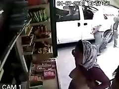 Muslim Girl Flashes The Store Owner