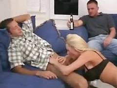 Allie does Brett and Jake MMF threesome group sex