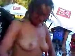 chica porn Goes Crazy In The Lake And Lets All The Guys Touch Her Pussy