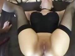 Submissive wife gets both holes abused