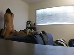 Hidden cam morning sextape