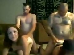 exgf Swinger Foursome In The Living Room