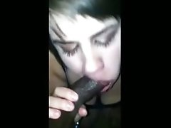 unshaved pussy Sucks Her ebony chick BFs Cock POV But He Cant Remain Hard
