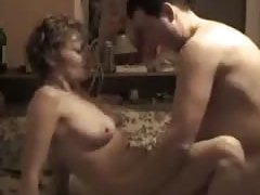 Horny sexy nudes milf fucks her husband in various sex positions in the bedroom