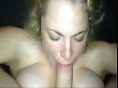 Boom  babe gives head cumload For My Busty GF