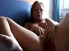 Girl Puts Her Thong Inside Her Pussy Masturbates And Moans