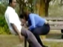 Ponytailed teen Sucks Her BF039s Cock On A Bench In The Park
