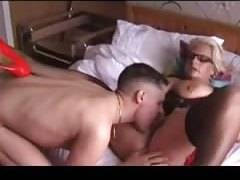 British mature picks up young stud and fucks him