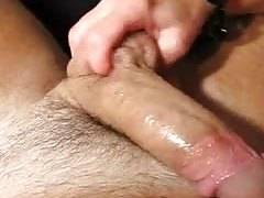 Stroking his Cum out