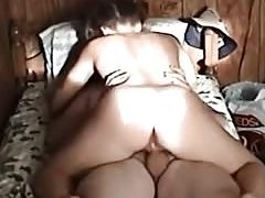 Pigtailed girl rides her bf sex fantasy