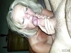 Mature give head and rimjob