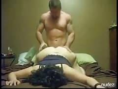 Chubby girlfriend fucked and jizzed by muscular stud
