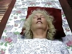 Grandma Gets POV Missionary Fucked On The Terrace Table Outside