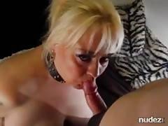 Mature sub slut Cum swallow