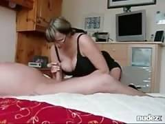 Perfect big tits handjob