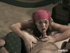 Bandana homemade blowjob