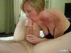 MILF works a huge cock
