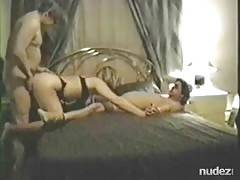 Married threesome with a friend at home