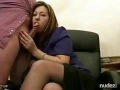 MILf gives him a handy at work
