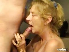 Blond older fiance likes sperm