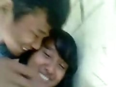 malaysian teeny Lets Her BF Play With Her Huge Tits And Makes-Out