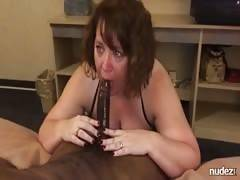 BBW wifey taking BBC into her throat