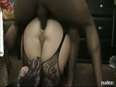 Serious anal fuck gigantic butt with black lover