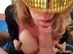 Amateur milf no hands blowjob and swallow HD