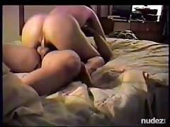 wifey with awesome rear-end riding the shit out of him