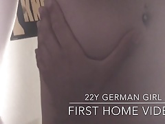 22y German Girl first home video