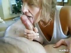 massive breasted cougar swallows and rides