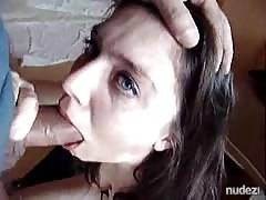 Eyes watering gagging deepthroat facial bj