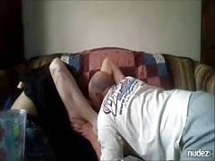 Hotwife giving maximum oral pleasure by hubby and dude