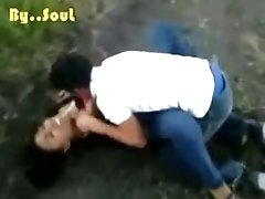 chica porn teenie Gets Missionary Fucked On The Ground In Nature