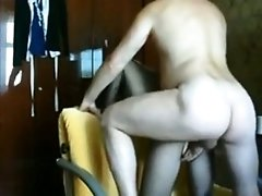 blond Milf With Fishnet Fucks On The Sofa