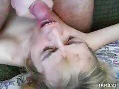 sucking for facial on homemade porn