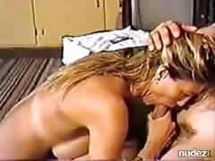 blondy giving nice after shower blowjob