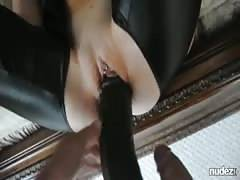 Massive black dildo