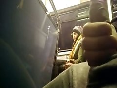 perky boobs Sees A big black cocks Guy Jerking Off In The Bus And Gets The Fuck Out Of There