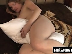 Blonde Emily Humping A Pillow