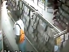 Crazy Guy Jerks Off In A DVD Rental Store