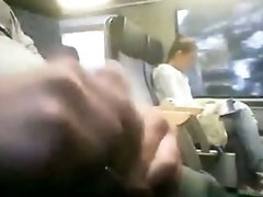 LOL  German Girl Sees A Guy Jerking Off In The Train And Gets Out