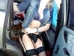 nudegirls Girl In Sex Lingerie Has Sex In The Car With Her Man