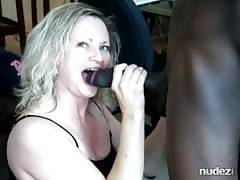 MILF blows BBC for man