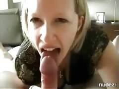 Pierced tongue cocksucking wifey