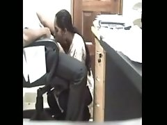 Indian Secretary Gives Her Boss A blowjob In The Office