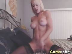 pretty blonde Babe Dildo Ride
