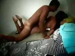 Dude Fucks His ebony boobs GF Froggystyle And Cums Inside Her