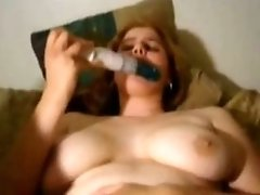 Dude Tapes His GF self anal With A Toy And She Squirts Multiple Times