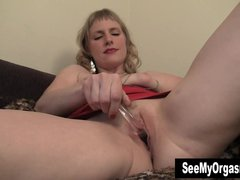 Blonde MILF Josie Fuck Dildo For Orgasm